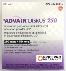 Box of Advair Diskus 250