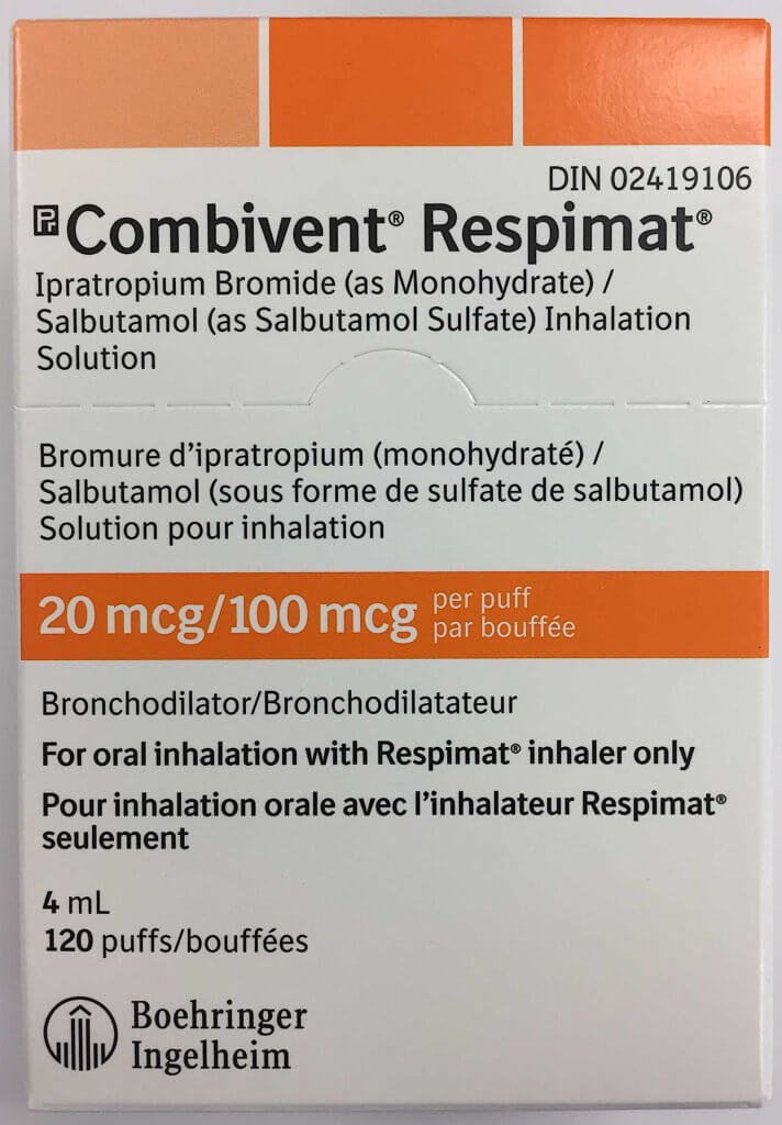Combivent Respimat 100/20mcg 120 doses from Canada