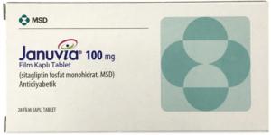 box of januvia 100mg tablets