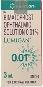 Lumigan 0.01% by Allergan bottle