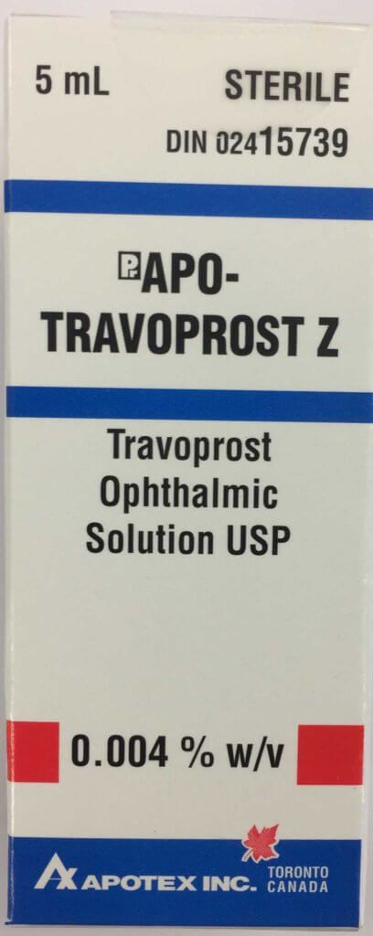 Travoprost Z 0.004% generic eye drops