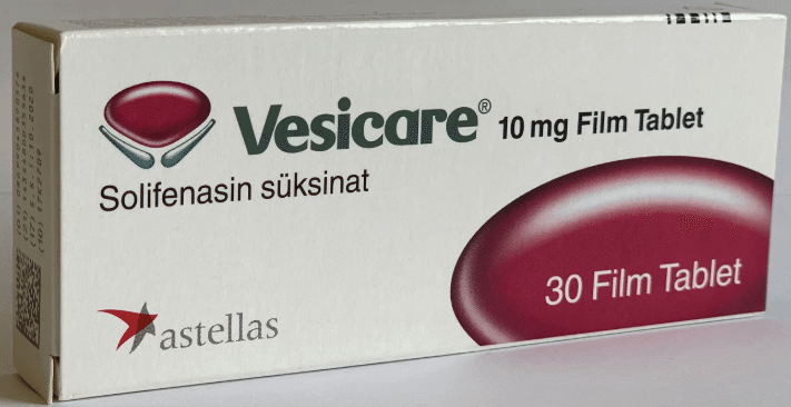 Vesicare 10mg - Manufactured be Astellas