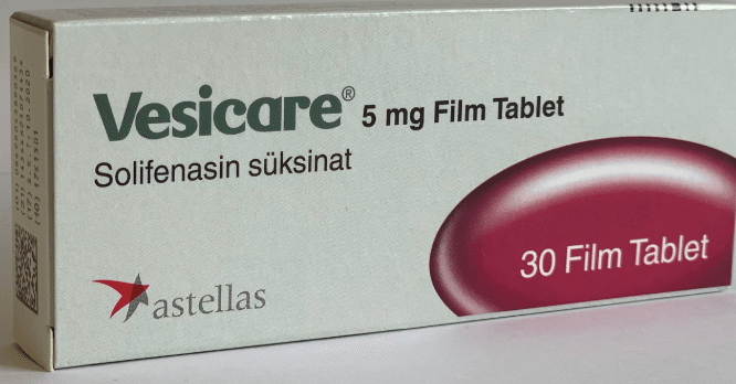 Vesicare 5mg Tablets - Manufactured be Astellas