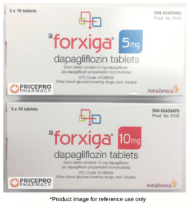 Farxiga 5mg and 10mg from Canada by AstraZeneca