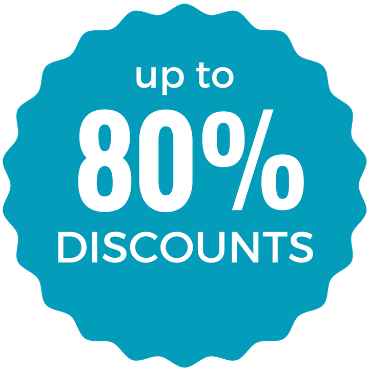 Up To 80% Discount Badge
